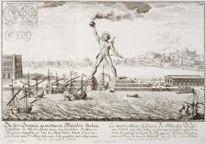 The Colossus of Rhodes, from, Entwurf Einer Historischen Architektur, 1721 by Johann Bernhard Fischer Von Erlach