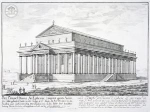 The Temple of Diana at Ephesus, Turkey, from 'Entwurf einer historischen Architektur', 1721 by Johann Bernhard Fischer Von Erlach