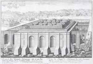 """The Temple of Solomon, Jerusalem, from """"Entwurf Einer Historischen Architektur,"""" 1721 by Johann Bernhard Fischer Von Erlach"""