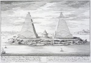 The Two Pyramids of Moeris, King of Egypt and His Wife, Plate 11 by Johann Bernhard Fischer Von Erlach