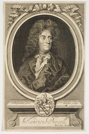 Portrait of Henry Purcell (1659-1695) Engraved by Robert White (1645-1703)