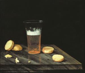 Still Life with Beer Glass by Johann Georg Hinz