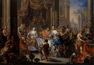 Cleopatra's Feast by Johann Georg Platzer