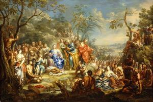 The Feeding of the Five Thousand by Johann Georg Platzer