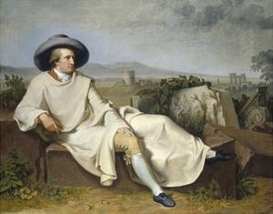 Goethe in the Roman Campagna by Johann H.W. Tischbein