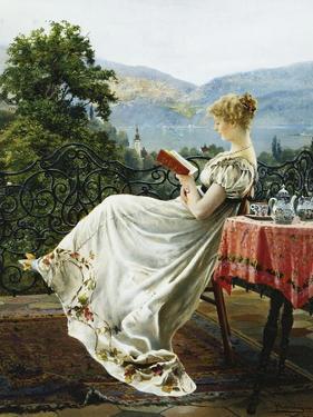 On the Terrace by Johann Hamza