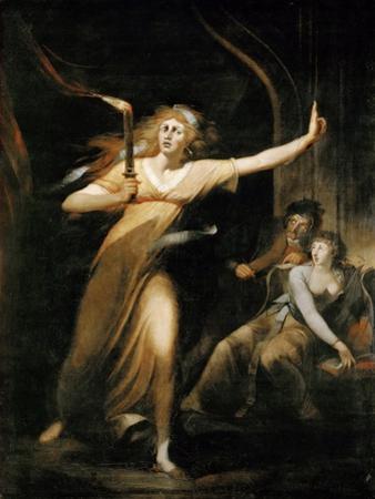 Lady Macbeth Walking in Her Sleep by Johann Heinrich Füssli