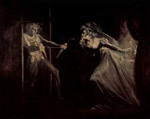 Johann Heinrich Fussli (Lady Macbeth takes the daggers opposite) Art Poster Print