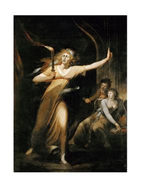 Lady Macbeth Walking in Her Sleep by Johann Heinrich Fussli