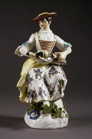 Statuette Depicting Colombine with Hurdy-Gurdy