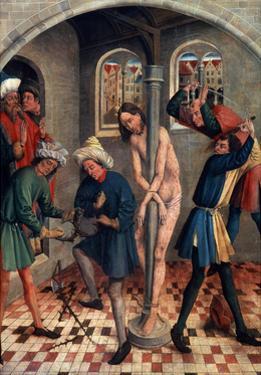 The Flagellation of Christ, before 1457 by Johann Koerbecke