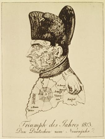 Triumph Des Jahres 1813', Portrait of Napoléon Composed of Corpses