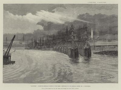Deserted, Hamburg-American Liners in the Elbe