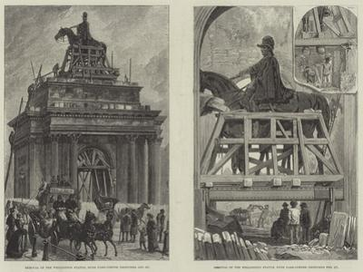 Removal of the Wellington Statue