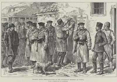Tearing Down Proclamations of the Bulgarian Regency at Varna