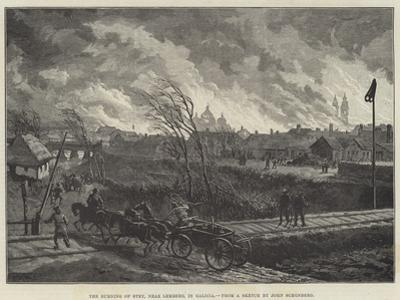 The Burning of Stry, Near Lemberg, in Galicia