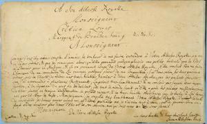 Handwritten Dedication of 'Brandenburger Concertos' to Christian Ludwig, Margrave of Brandenburg by Johann Sebastian Bach