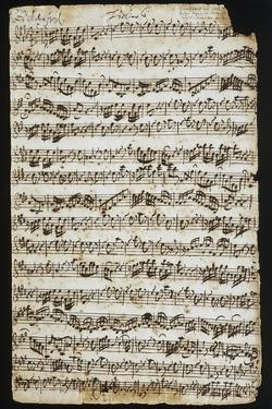 Handwritten Score for Cantata No 9 by Johann Sebastian Bach