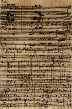 Handwritten Score for Cantatas No188 by Johann Sebastian Bach