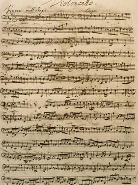 Handwritten Score for Mass in B Minor, BWV 232 by Johann Sebastian Bach