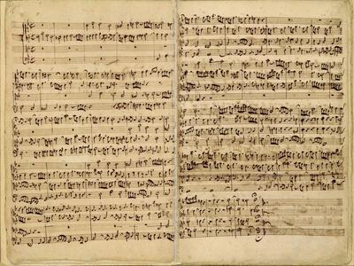 Pages from Score of the 'st. Matthew Passion', 1727