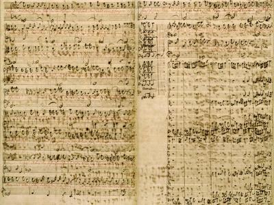 Pages from Score of the 'The Art of the Fugue', 1740S