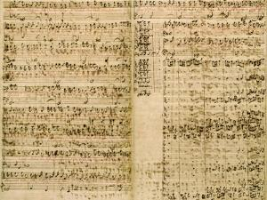 Pages from Score of the 'The Art of the Fugue', 1740S by Johann Sebastian Bach