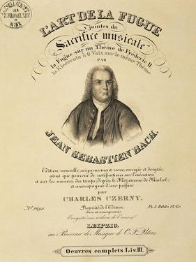Title Page of Score for Art of Fugue by Johann Sebastian Bach