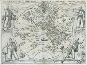 A Map of the Americas, 1590-1601 by Johann Theodor de Bry