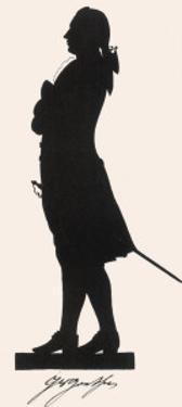Johann Wolfgang Von Goethe German Writer and Scientist in Silhouette