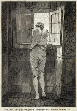Johann Wolfgang Von Goethe in Rome in 1787 Looking out of the Window in a Relaxed Mood