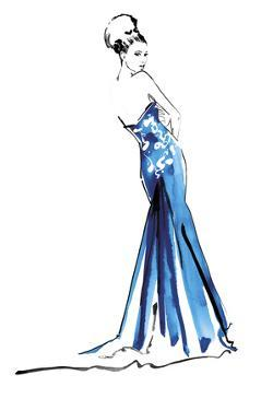 Blue Gown by Johanna Fernihough