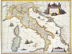 Map Of Italy, 1631 by Johannes Blaeu