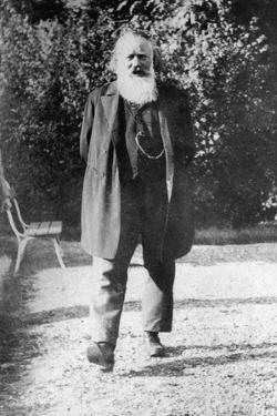Johannes Brahms Going for a Stroll Outside