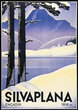 Advertising poster Silvaplana, Switzerland by Johannes Handschin