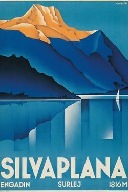 Poster for Silvaplana by Johannes Handschin