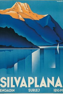 Poster for Silvaplana by Johannes Handschin