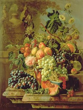 Still Life of Fruit by Johannes Hendrick Fredriks