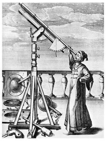 Telescope from Selenographia, 1647