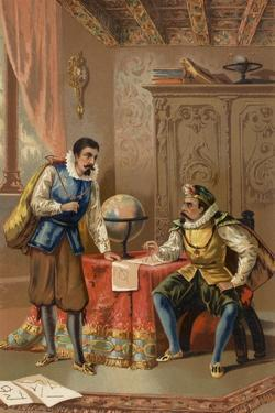 Johannes Kepler and Tycho Brahe at the Prague Observatory, C1600
