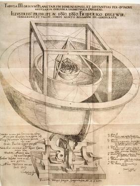 Kepler's Universe, 1596 by Johannes Kepler