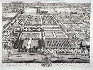 Aerial View of the Seat of the Dukes of Beaufort, Chelsea, London, C1720 by Johannes Kip