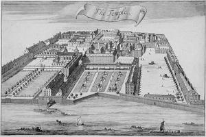 Inner and Middle Temple, City of London, 1700 by Johannes Kip
