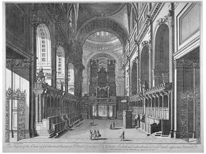 Interior View of St Paul's Cathedral, City of London, C1720 by Johannes Kip