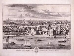Lambeth Palace, London, 1697 by Johannes Kip