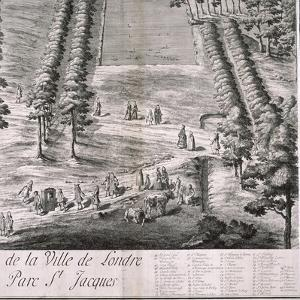 Panoramic View of London, 1720 by Johannes Kip