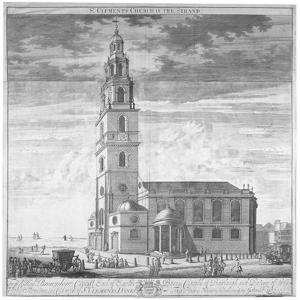 St Clement Danes Church, Westminster, London, C1719 by Johannes Kip