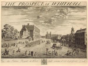The Plan of Whitehall, 1724 by Johannes Kip