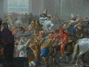 Carnival in Rome (Detail), C. 1650 by Johannes Lingelbach