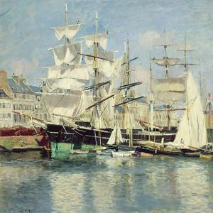 Squared - Riggers in Le Havre, 1886 by Johannes Martin Grimelund